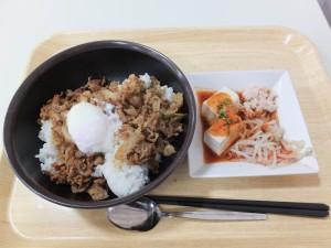 慶應パワー丼と旨辛豆腐