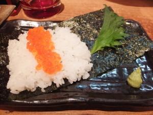 いくらの手巻き寿司