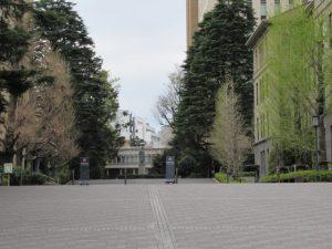 今日も学生は少なかった(早稲田大学)
