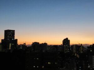 教室から見える風景(早稲田)